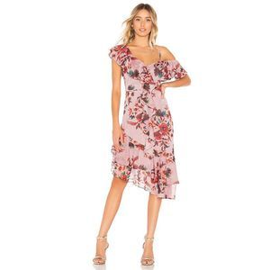 Lovers + Friends Stacy Floral Ruffle Midi Dress